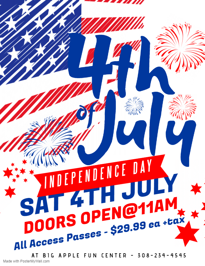 4th of July - We're Open!